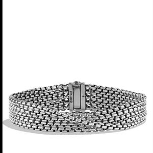David Yurman Five  Row Chain Bracelet